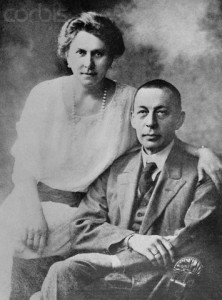 1907, Dreseden, Germany --- Sergei Rachmaninoff and his wife are shown here in Dreseden, Germany. --- Image by © Bettmann/CORBIS